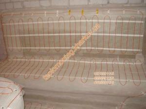 обогрев бани нагревательным кабелем